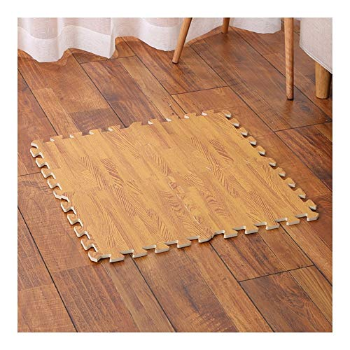 AWSAD Tapis Mousse Grain De Bois Imitation Sol Mou Épaissir Durable La Chambre des Enfants Tuiles De Jeu, 2 Couleurs 30x30x1cm (Color : B, Size : 30X30X1CM(10 Tiles))