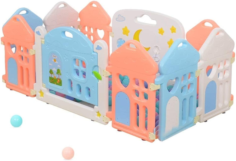 QNJM scatola di Plastica per Bambini, Recinzione di Prossoezione per Bambini, Gioco di Sicurezza per Bambini Strisciante per Interni, Grei Regali per Bambini Neonati per Bambini (Dimensione   118x118x60cm)