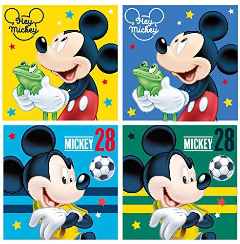 Disney Micky Maus 4er Set Waschlappen Waschfleck 69889