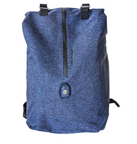 Mens Business Minimalist Laptop Backpack,Travelon Anti Theft Bags School Bag USB Charging (Blue)