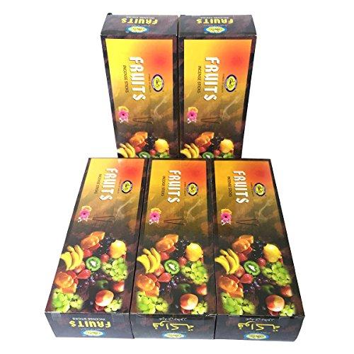 フルーツ香 スティック 5BOX(30箱)/CYCLE FRUITS/インド香 [並行輸入品]