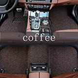 LUOLONG Pie del Coche Esteras De Coches Tapetes para Subaru Forester 2006-2016 Todos Los Modelos Impreza XV Crosstrek Tribeca Coches Accessorie Auto Tapetes De Piso, Negro