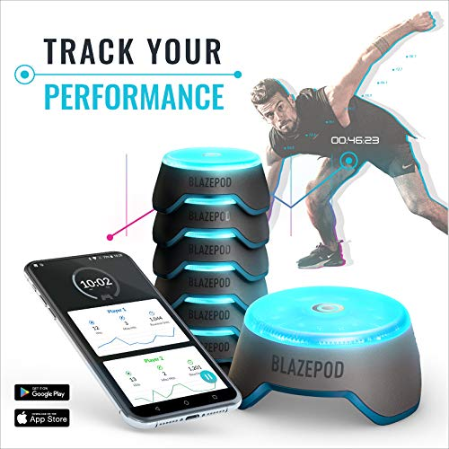 BlazePod Flash Reflex Lights and Reaction Training System, Challenging Activities to Improve Speed and Agility - for Athletes, Martial Arts, Soccer, Boxing, Basketball, Coaches and Trainer (6 Pods)