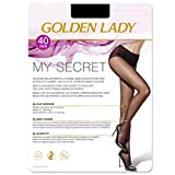golden lady - panty my secret 40 senza cuciture donna nero xl