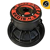 Bassface RED15.4 15' Inch 38cm 2x2Ohm DVC Pro SPL SQ Series Subwoofer 2500w Verified RMS