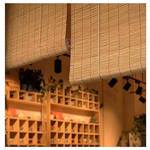 Persiana Enrollable De Bambú Carbonización, Cortina De Bambú Persiana Bambu con Filtro de Luz, Romanas Persianas de Madera (Size : 90x140cm/36x55in)