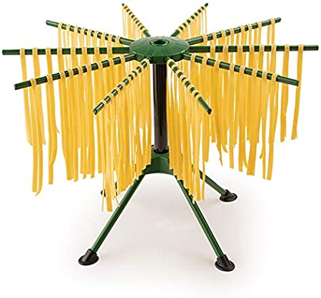 Green Plastic Fantes Collapsible Pasta Drying Rack Since 1906