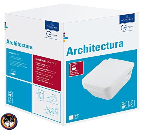 Villeroy & Boch Wand-WC Combi-Pack Architectura PLUS , DirectFlush, Spülrandlos C-plus - 4