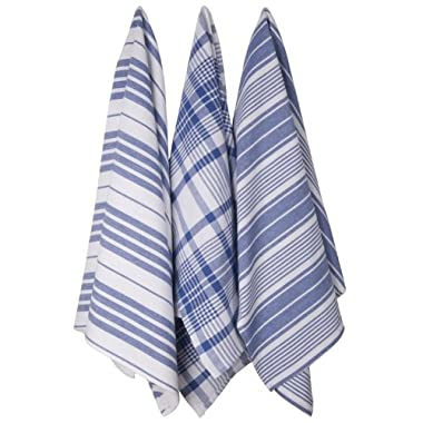 Now Designs Jumbo Pure Kitchen Towel Set of 3, Royal Blue
