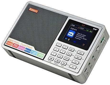 Multiband-Funkgerät, 2,4-Zoll-Bluetooth FM DAB LCD Stereo Mikro-SD/TF-Karte