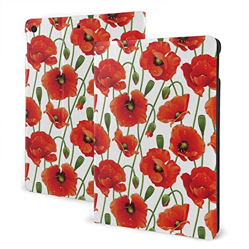 liukaidsfs Floral Pattern of Poppy Flowers Slim Lightweight Smart Shell Stand Cover Case for iPad Air3 & pro (10.5-Inch,Auto Wake/Sleep)