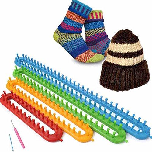 Vetrineinrete Set 4 telai rettangolari per la lavorazione della lana maglia telaio maglieria varie misure G25