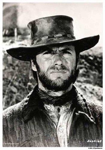 Clint Eastwood - Black and White Western Poster Plakat Druck - Grösse 61x91,5 cm
