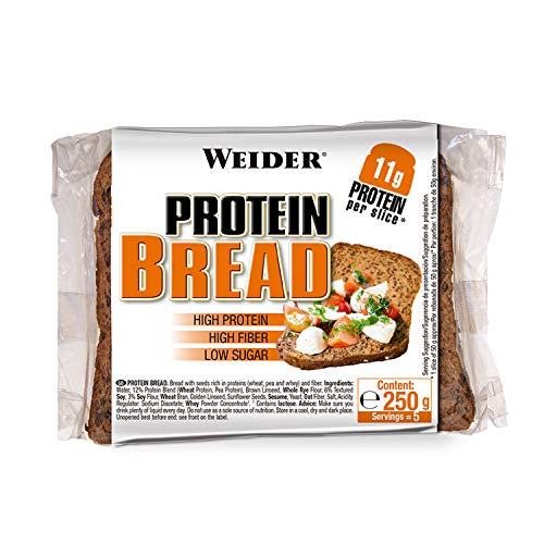Weider Rich Protein Bread with 11g of Protein. High Fiber and Low Sugar (5x250 g)