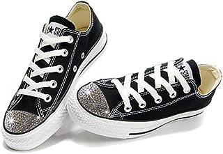 Converse Swarovski Shoes - Swarovski Xirius-Rose Cut Rhinestone Crystals - Bling