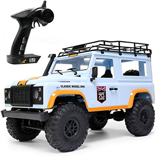 The perseids 1/12 2.4G 4WD RC Car, Off-Road High-Speed 4x4 Minitary Truck Climb Rock Crawler Electric Hobby Grade RTR Toy for Kids Over 14 Years Old and Adults(Blue)