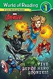 MARVEL FIVE SUPER HERO STORIES WORLD OF READING (Marvel Avengers: World of Reading, Level 1)