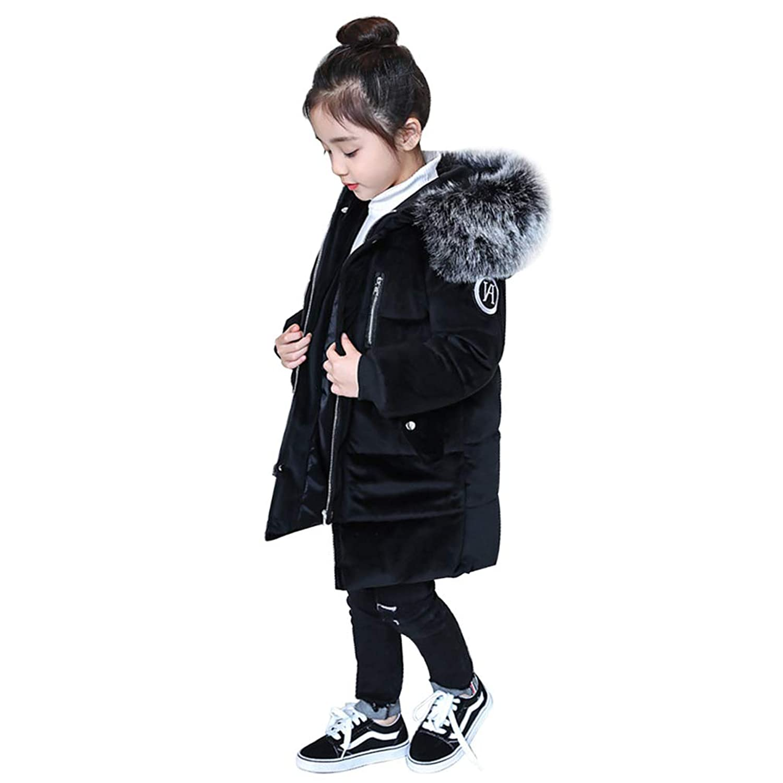 Yusoi 子供服 キッズ 中綿 コート ジャケット フード付き 人気 子ども 中高年齢児童 保温 厚さ 増量 男女兼用 各年齢 普通 ロング ネック