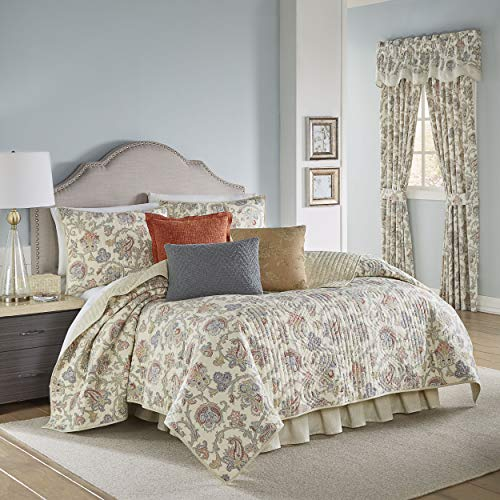Waverly Arezzo with Bed Skirt and 2 Pillow Shams, King, Multi