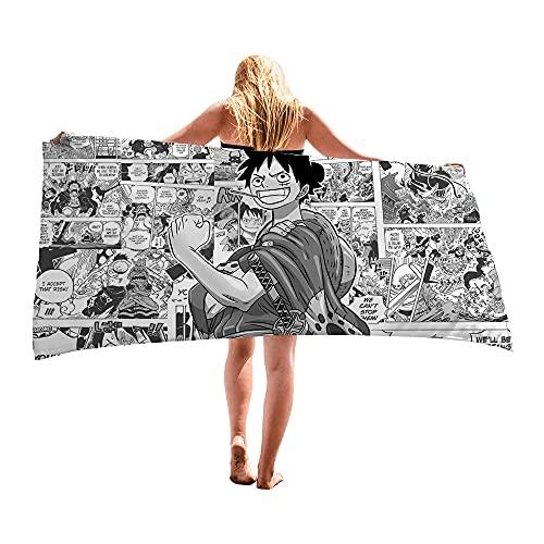 LIYIMING Anime One Piece - Juego de toallas de playa (06,80 x 160 cm)