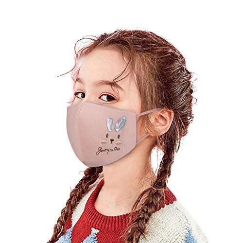 Preisvergleich Produktbild QJMY Kinder Baumwolle Mund-und-Nasen Schutz Face Cover atmungsaktiv Washable and Reusable Sommerschutz Haushalt Outdoor Essentials für Nacharbeiten Sportfestivals Freien
