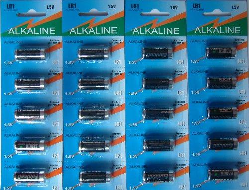 Eunicell MN9100/AM5/N Pile Alcaline LR1 1,5 V, 20 pezzi