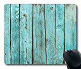 Turquoise Wood Teal Barn Wood Weathered Beach Mouse Pad