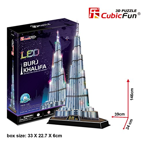 3D Puzzle Burj Khalifa LED Cubic Fun Upgradeversion