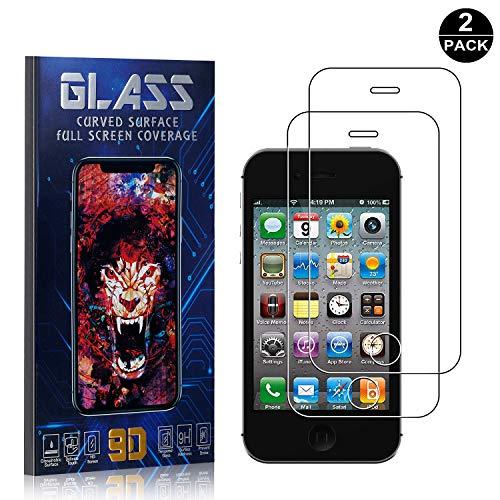 Bear Village Protector de Pantalla iPhone 4 / iPhone 4s, 9H Cristal Templado, Anti-Golpe, Transparente Protector de Pantalla para Apple iPhone 4 / iPhone 4s, 2 Piezas
