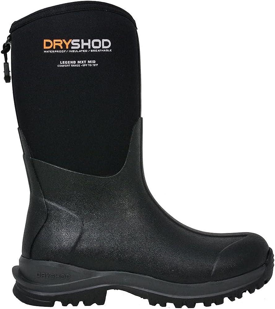 Dryshod Womens Legend Mxt Adventure Pull On Boots Mid Calf Low Heel 1-2