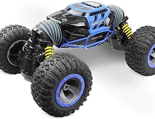 Paelf 1:16 Twist-desert Cars Off Road Buggy Toy Tiempo de alta velocidad RC CAR RC Control de radio de coche 2.4GHz 4WD 1: 8 Niños Niños Juguetes Remoto Controlado Car Vehículo Red Azul Azul Gran cont