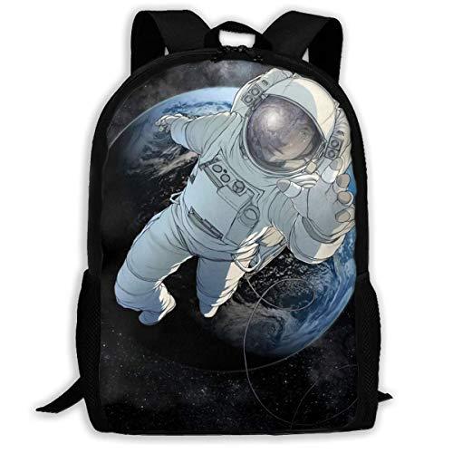 Hochleistungs-Unisex-Rucksack für Erwachsene Die Astronauten flohen aus der Erde Büchertasche Reisetasche Schultaschen Laptoptasche
