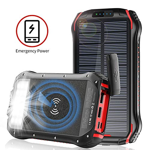 Features of ORYTO QI Wireless Solar Power Bank for Android and iPhone