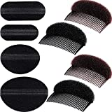 Bump It Up Volume Hair Base Set Styling Insert Braid Tool Hair Bump Up Comb Clip Sponge Bun Hair Pad Accessories for Women Girls DIY Hairstyle (8 Pieces)