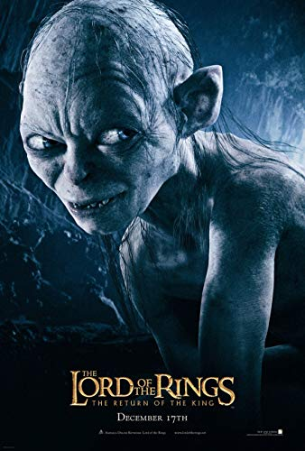 LORD OF THE RINGS RETURN OF THE KING MOVIE POSTER 2 Sided ORIGINAL GOLLUM 27x40