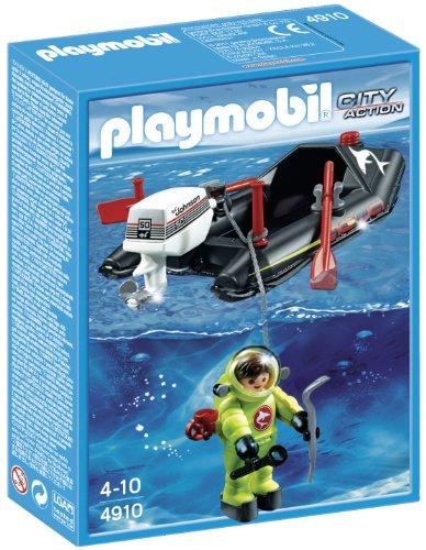 PLAYMOBIL - Lancha con Buzo (4910)
