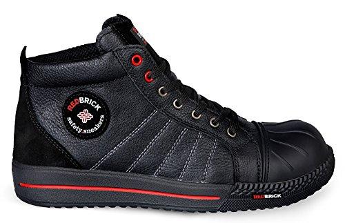 Redbrick 2W4 Sicherheitsschuhe S3 sportlich Sneaker Kappe und Sohle (48 EU, Black Onix)