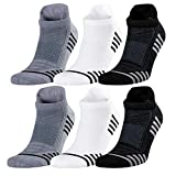 Bamboo Men's Thin Ankle Socks 6 Pairs For Summer Breathable Absorbent Low Cut Athletic 9-12 Size (Mix)