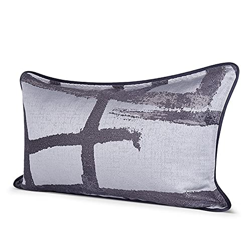 Cubiertas de almohadas decorativas Patrón de tinta Casas de cojín gris y negro Cubierta de cojín de algodón Ropa de almohada Cubiertas de almohadas Decoración del hogar para sofá Dormitorio de automóv