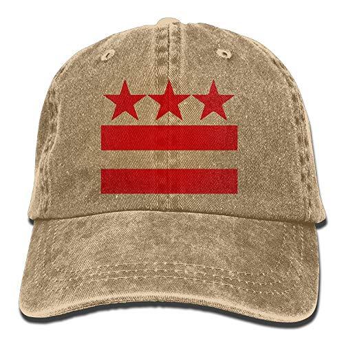 Fashion boutique clothing Men and Women Washington DC Flag Vintage Jeans Baseball Cap