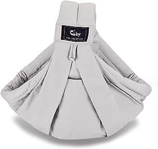 CUBY ベビースリング 新生児 ベビースリング ベビーキャリア 抱っこひも 新生児 対象0~2歳 片肩 説明書あり 日本正規品(国内安全基準適合品) (グレー)