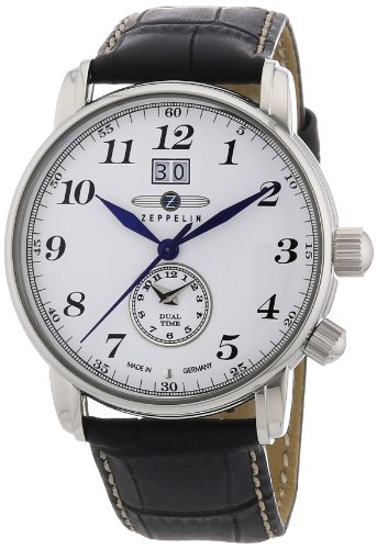 Zeppelin Herren-Armbanduhr XL LZ127 GRAF Analog Quarz Leder 76441