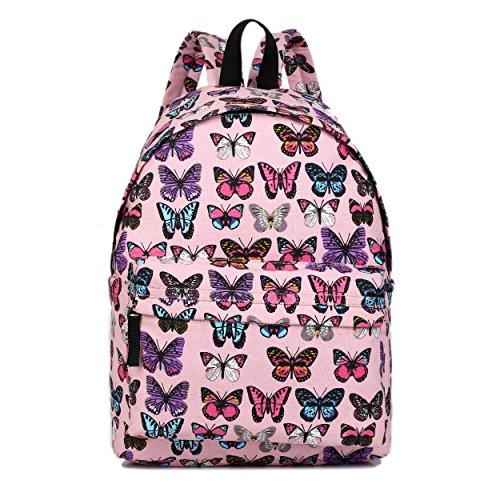 Miss Lulu Rucksack Handtaschen, M, Schmetterlings-Rosa