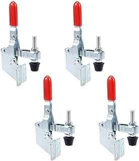 MINGZE Abrazadera de Palanca, capacidad Vertical de palanca de la abrazadera rápidamente Holding Type Toggle Clamp Quick Release Hand Tool (4 piezas GH-101-B 100kg)