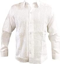Kin-Ha Guayabera Men's Long Sleeve 100% Linen Presidential Style.
