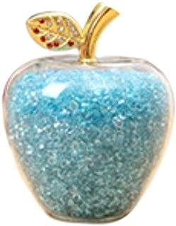 【morningplace】 幸運林檎 幸せを呼ぶ 置物 風水 アイテム クリスタル ギフト プレゼント に ゴールドアップル (ブルーアップル)