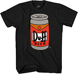 The Simpsons Duff Beer Can Adult T-Shirt