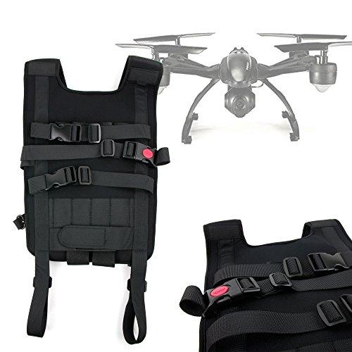DURAGADGET Mochila/Arnés Ajustable para tranporte de Dron GoolRC 509W Quadcopter, JXD 510G, Propel Star Wars 74-Z Speeder Bike, Millennium Falcon, T-65 X-Wing Starfighter, Tie Advance X1