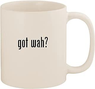 got wah? - 11oz Ceramic White Coffee Mug Cup, White