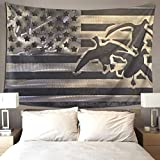 QSMX Home Decorative Duck Hunting USA Flag Tapestry Wall Hanging, Hippie Bohemian Tapestries - for Farmhouse, Apartment, Bedroom, Dining Room, Cafe, Hotel, Party Decorations - 40X60 Inches